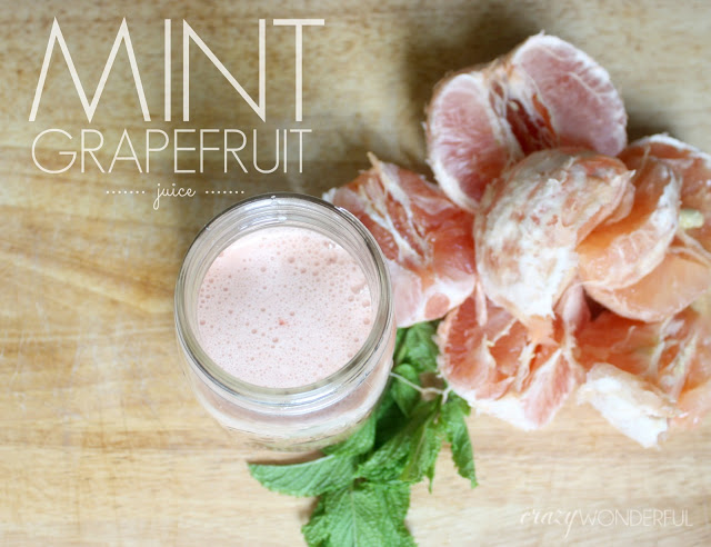 juicing | mint grapefruit