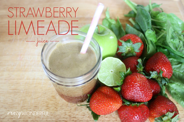 juicing | strawberry limeade