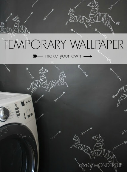 Temporary Wall Paper diy temporary wallpaper - crazy wonderful