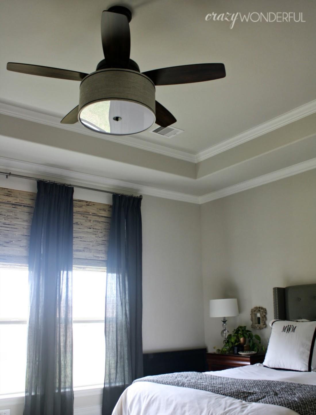 Diy Ceiling Fan : Diy drum shade ceiling fan crazy wonderful