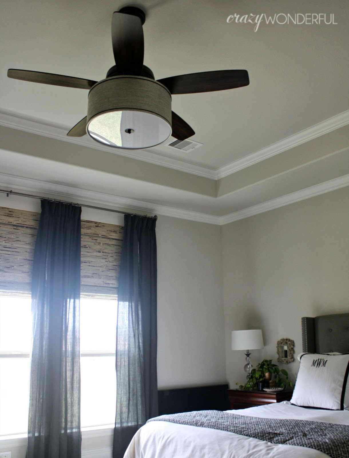 DIY drum shade ceiling fan Crazy Wonderful