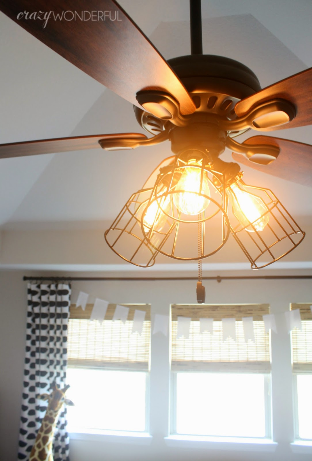 This Was SUCH An Easy Way To Switch Up The Look Of The Fan. The Fan Itself  Is Actually The Exact Same Fan I Used In Our Master Bedroom And Put A ...