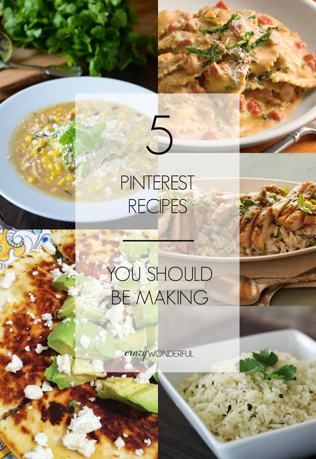 5 pinterest recipes you should be making
