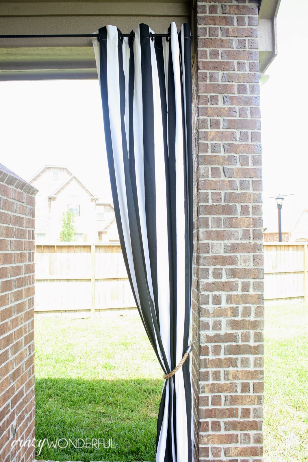 Patio Curtains Diy Rope Tieback Crazy Wonderful