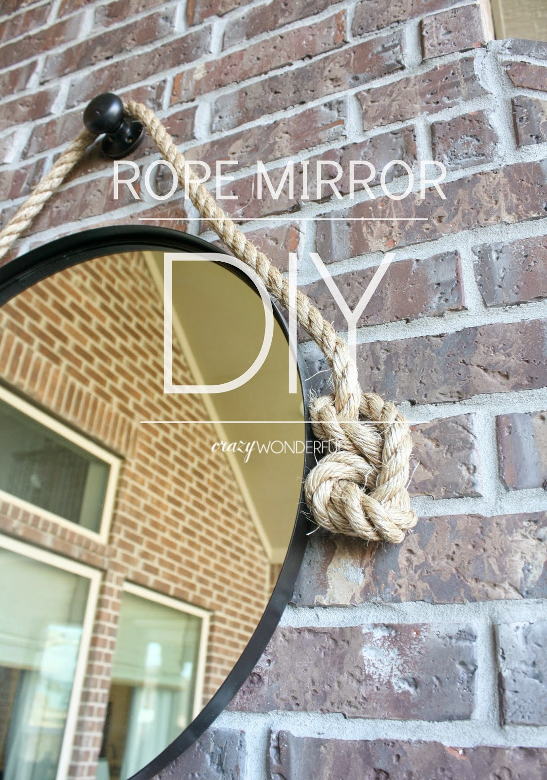DIY rope mirror | tutorial
