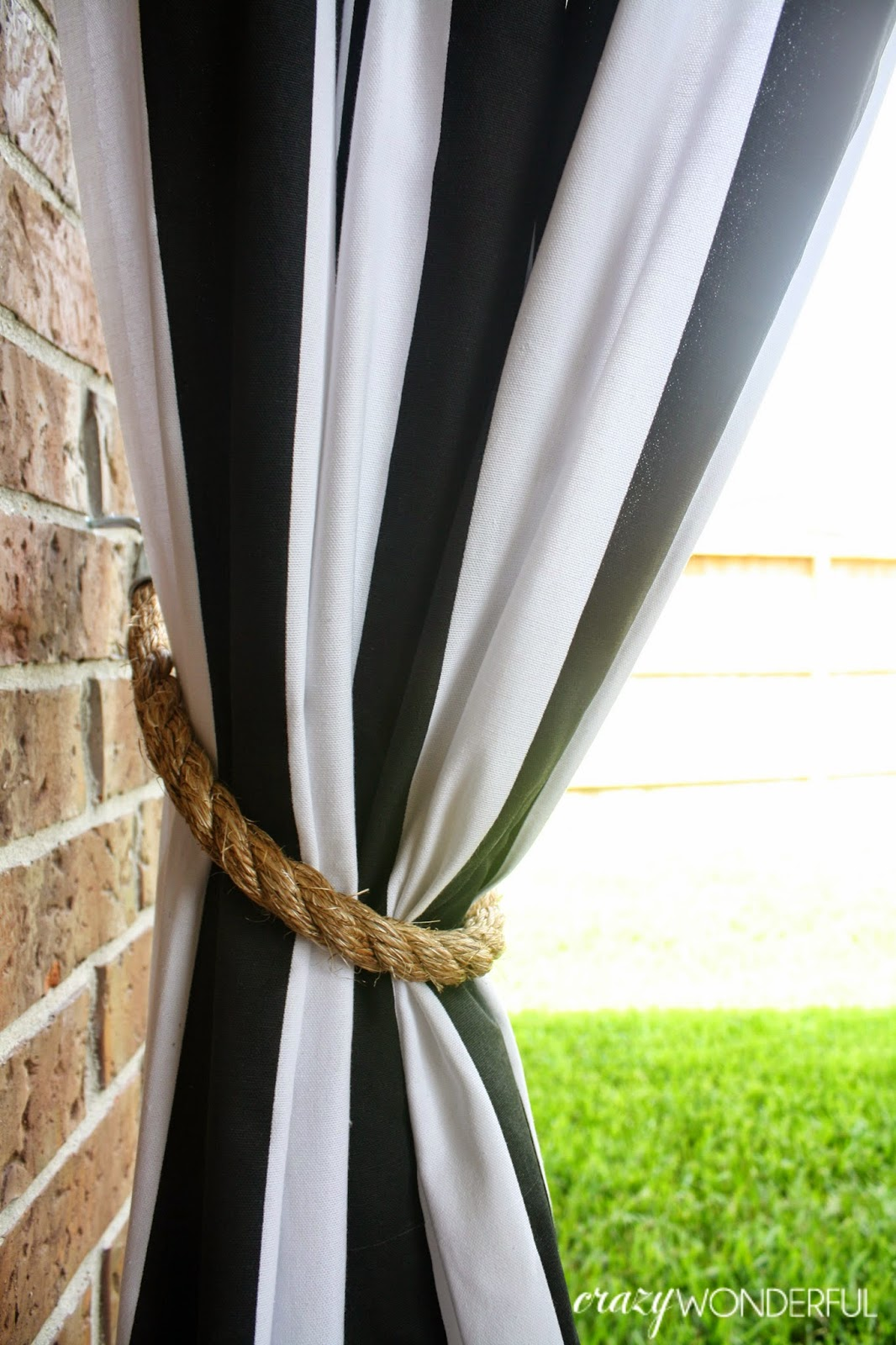 Patio Curtains Diy Rope Tieback