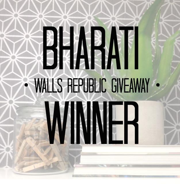 walls republic giveaway winner + project update