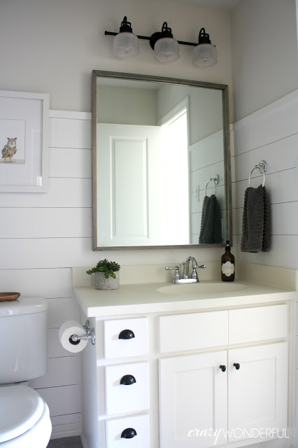 Shiplap Boy S Bathroom Reveal Crazy Wonderful