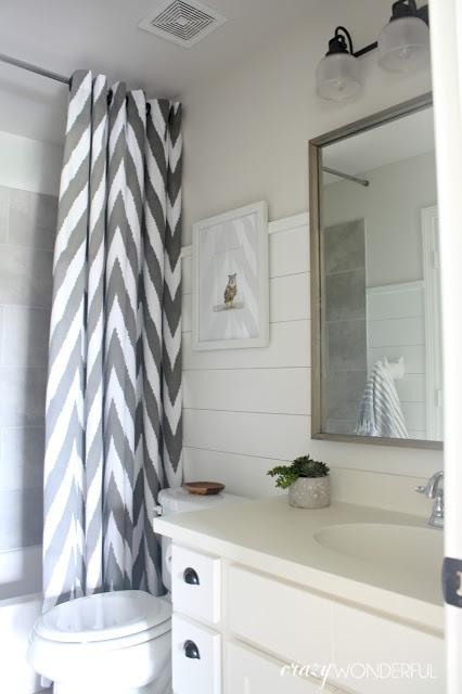 shiplap boys bathroom reveal crazy wonderful