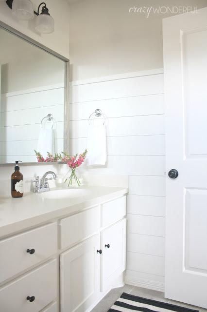 Shiplap Girl S Bathroom Reveal Crazy Wonderful