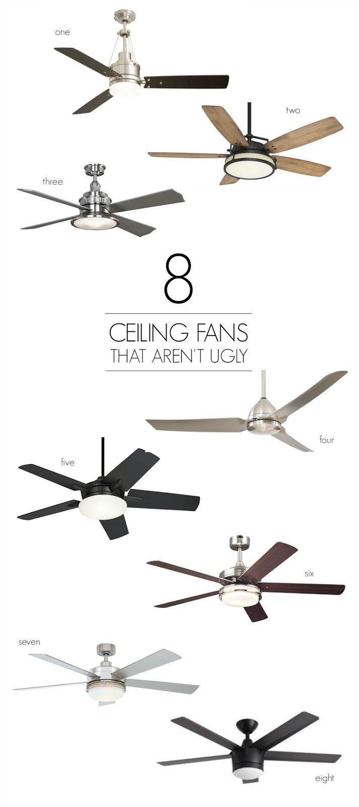 8 ceiling fans that aren u0026 39 t ugly