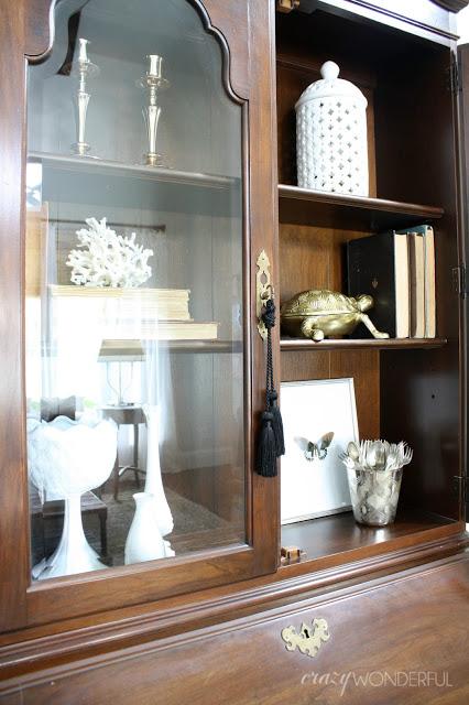 secretary shelf styling