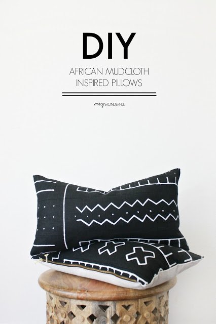 DIY african mud cloth pillows