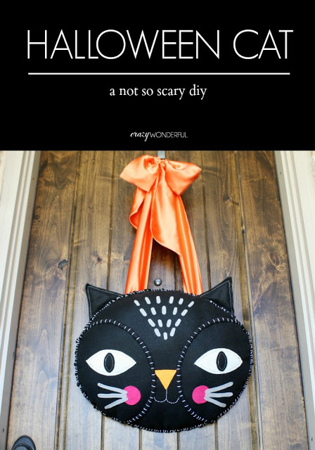 halloween door hanging | tutorial