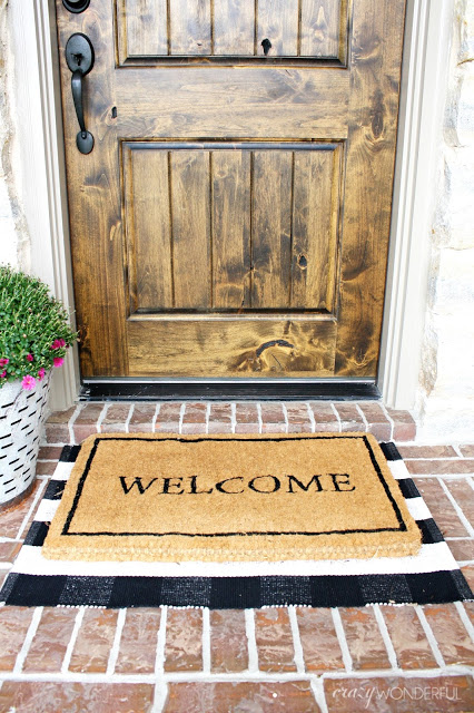 layered door mats
