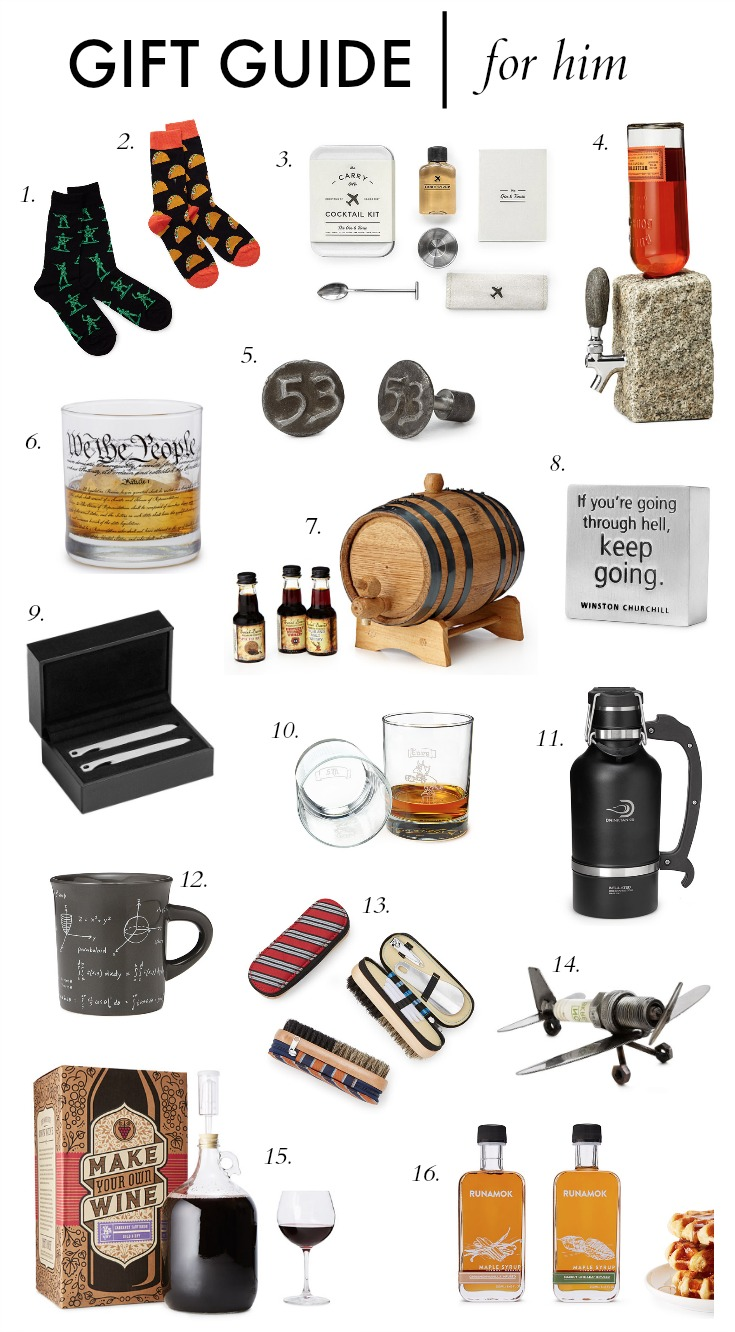 gift guide for him with uncommon goods