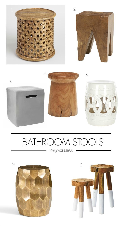 bathroom hooks and stools - Crazy Wonderful