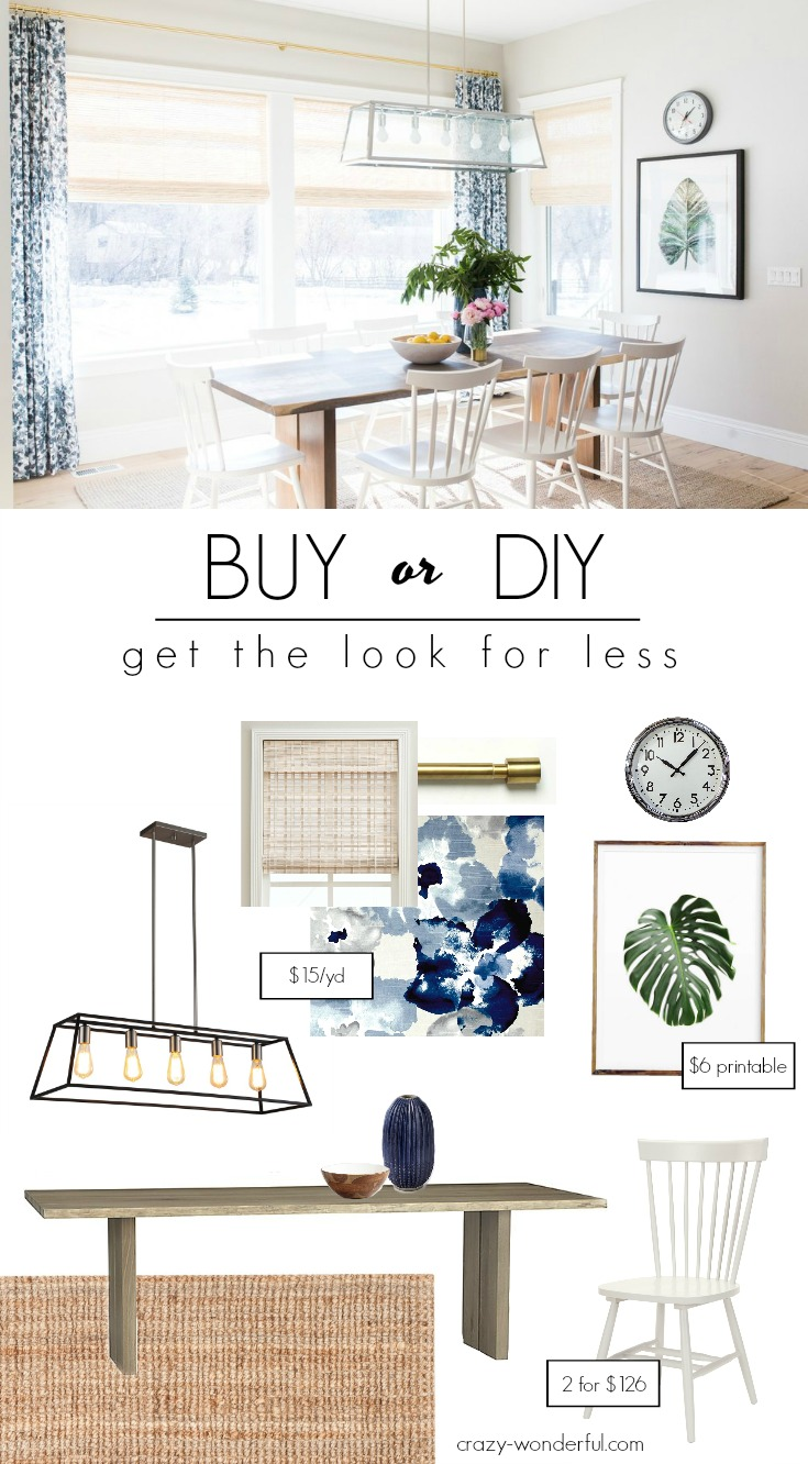 buy or diy – transitional dining room