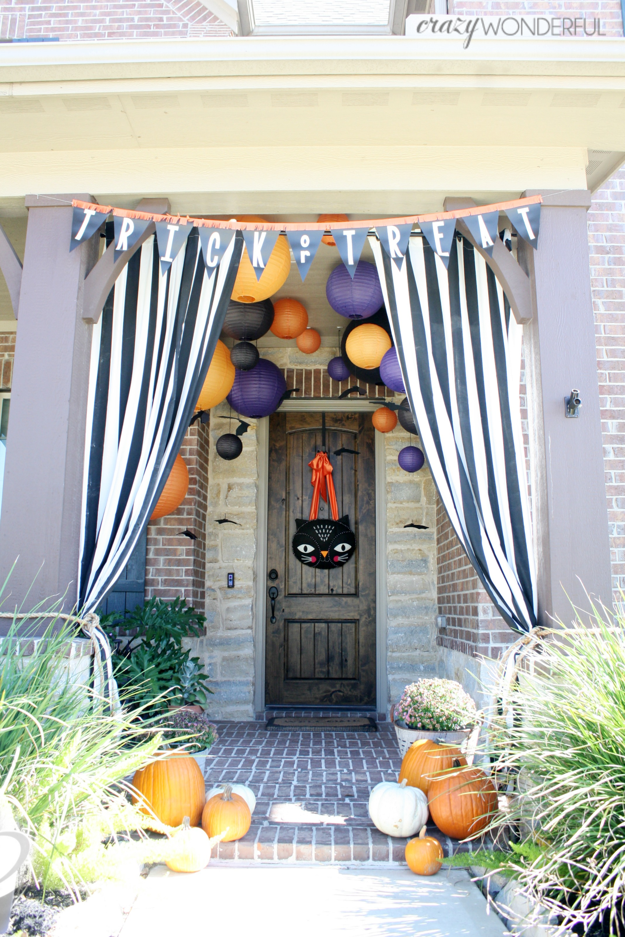 halloween porch decorations - crazy wonderful