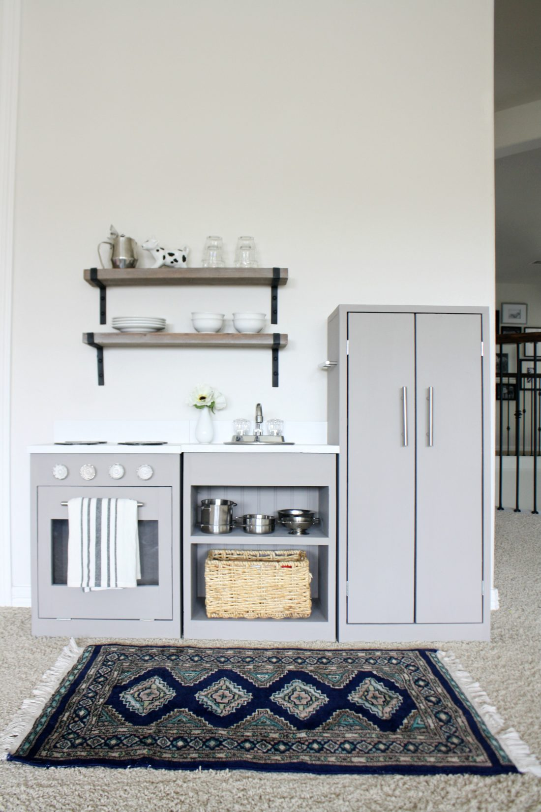 I Used This Play Kitchen From Pottery Barn As My Inspiration. Holy Cow,  What A Cute Kitchen It Turned Into!