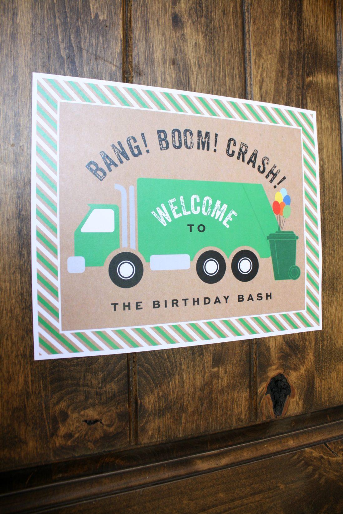 Trash Truck Birthday Party Crazy Wonderful