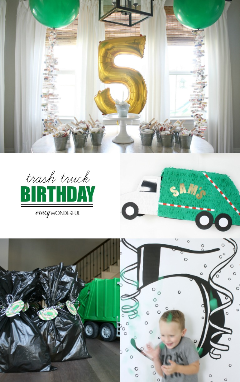 Trash Truck Birthday Party - Crazy Wonderful