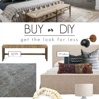 Buy or DIY – High End Bedroom