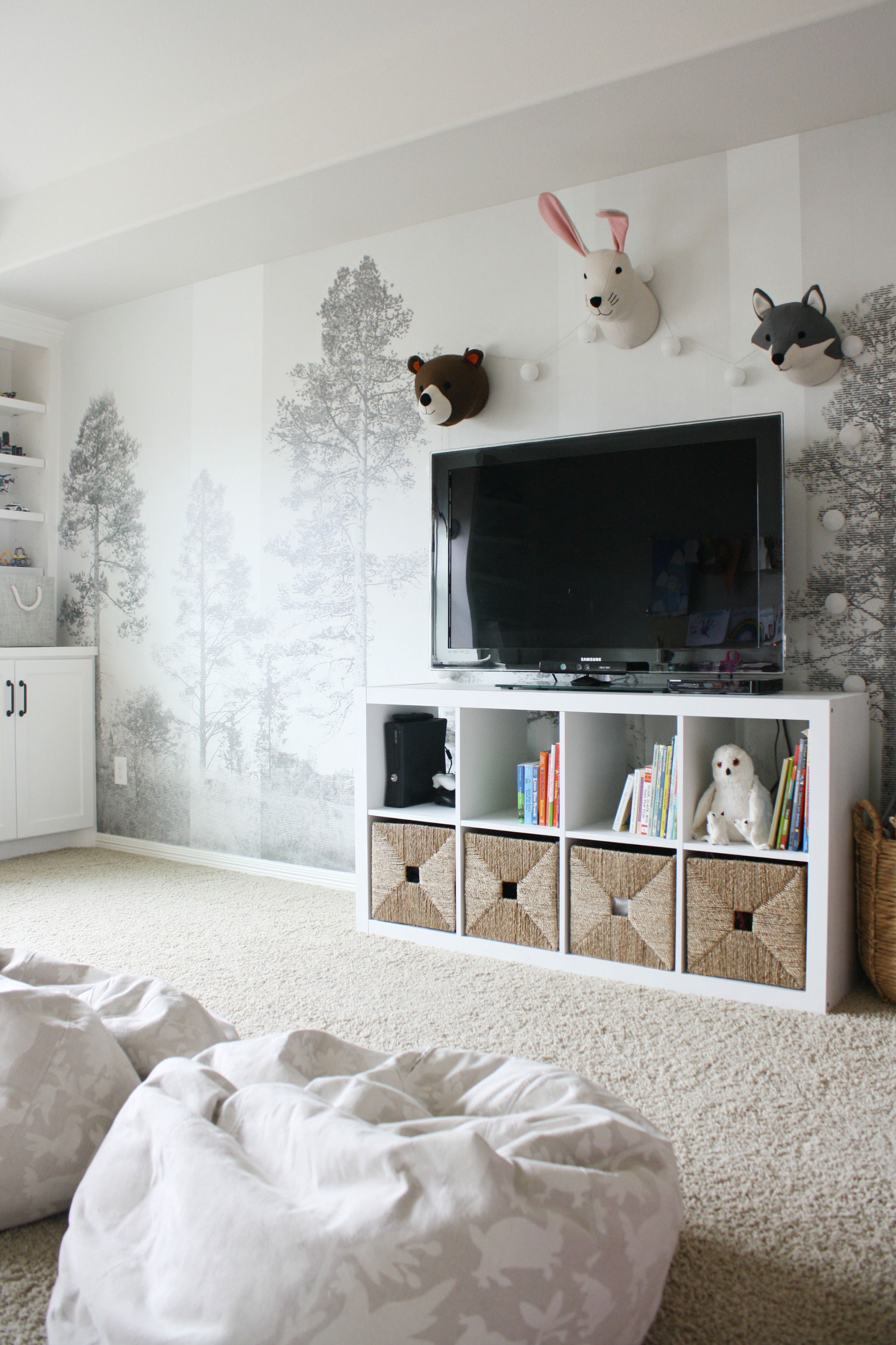 How incredible is that wall mural it is just so much fun and truly finishes off the space i went with their panorama in grey wall mural with mural fotos