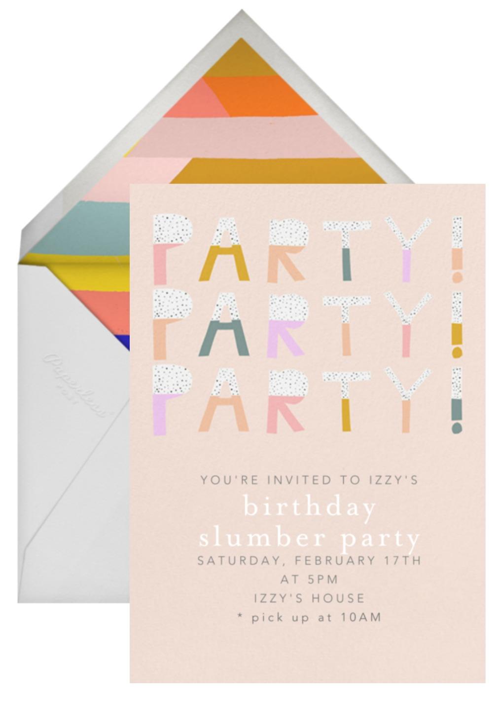 paperless post birthday invite - Crazy Wonderful