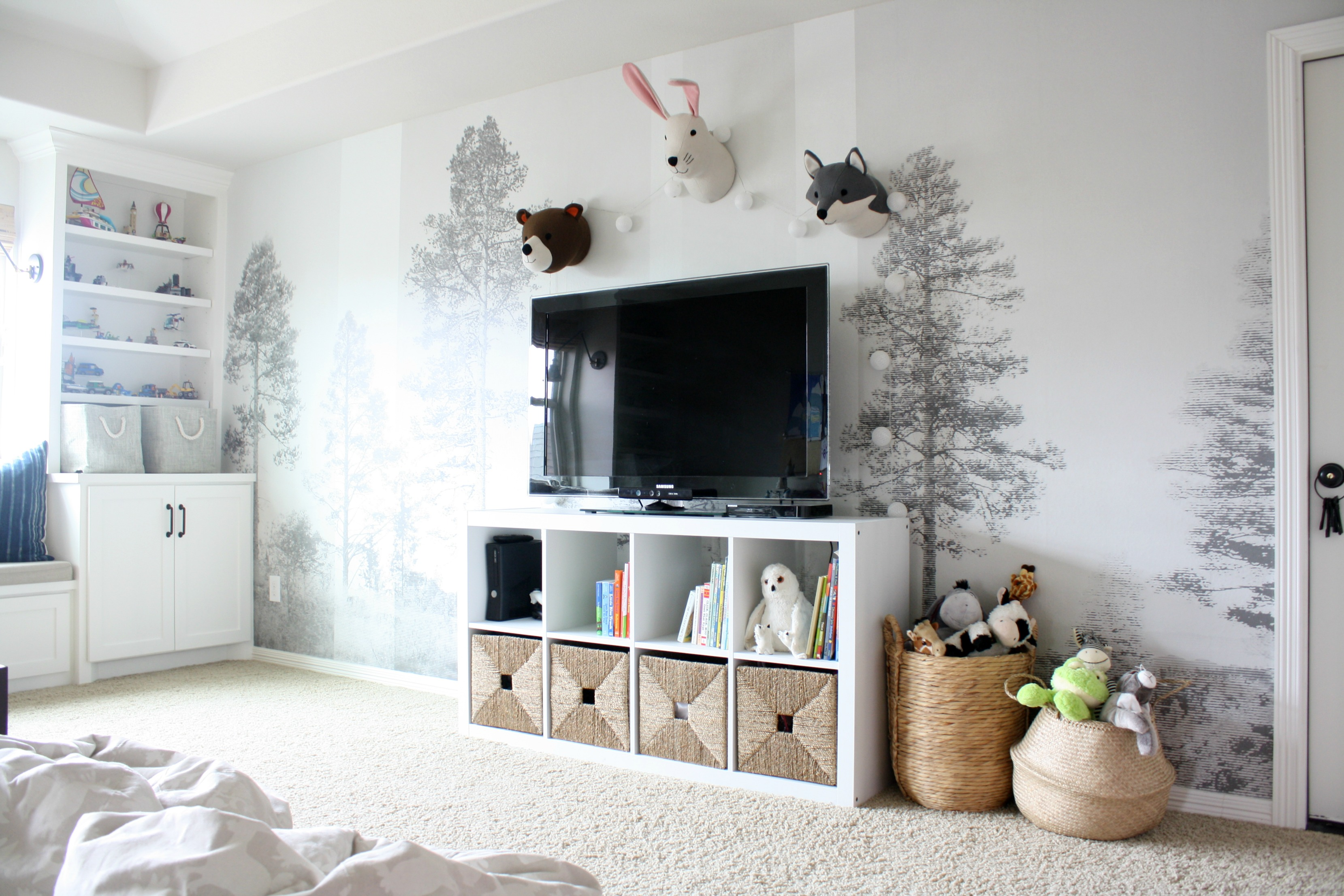 Playroom Wall Mural with Photowall - Crazy Wonderful