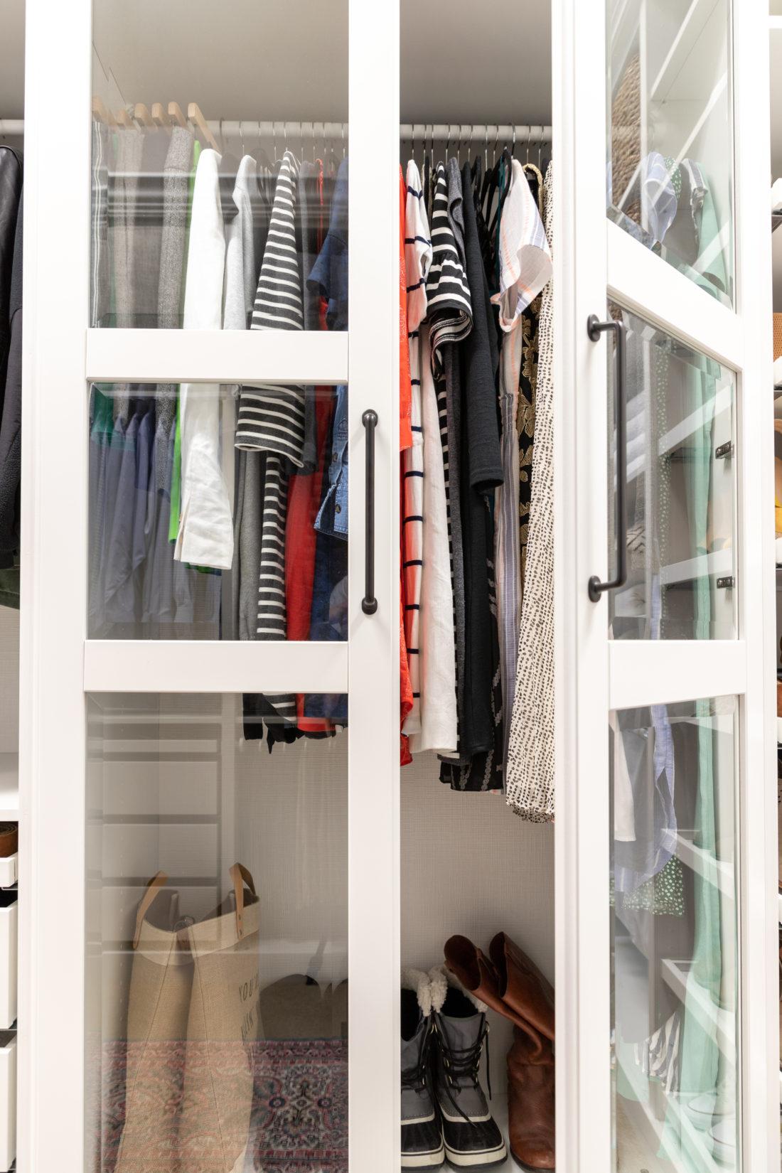Glass Doors In Walk In Closet